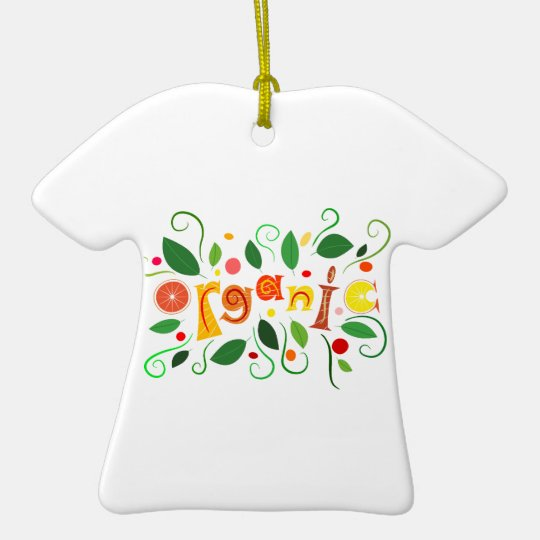 Floramentina - organic art ceramic T-Shirt ornament