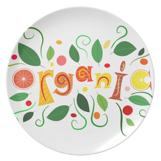Floramentina - organic art dinner plate