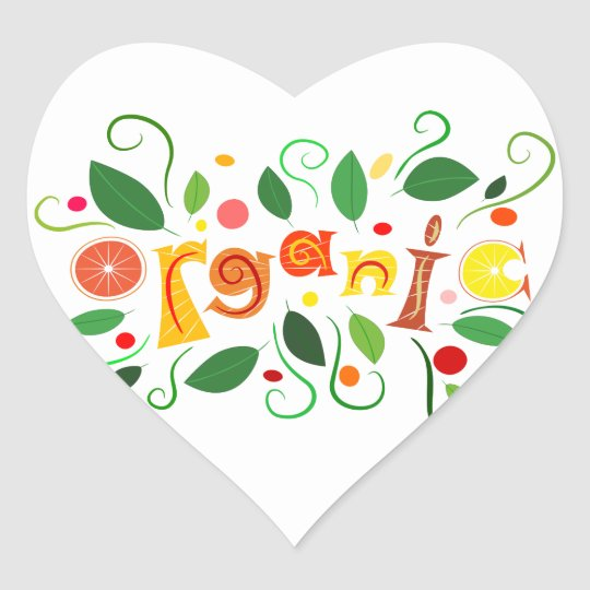 Floramentina - organic art heart sticker