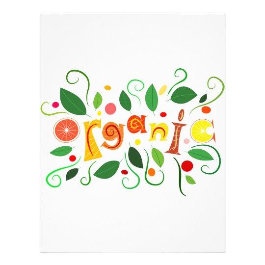 Floramentina - organic art letterhead template