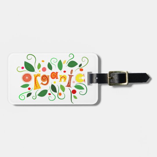 Floramentina - organic art luggage tag
