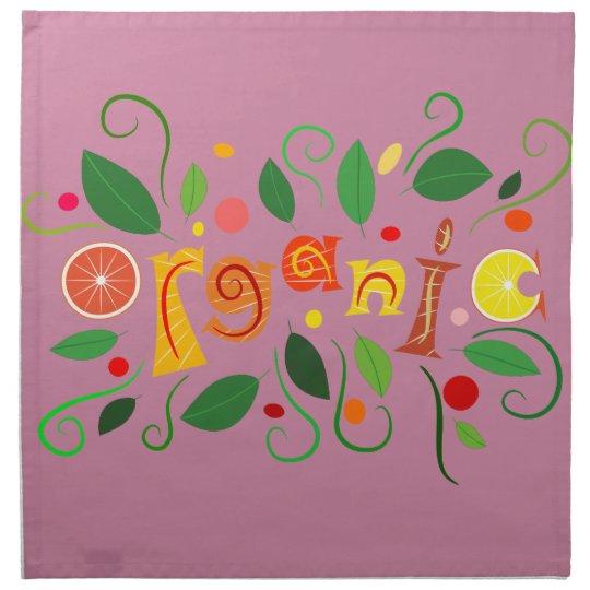 Floramentina - organic art napkin