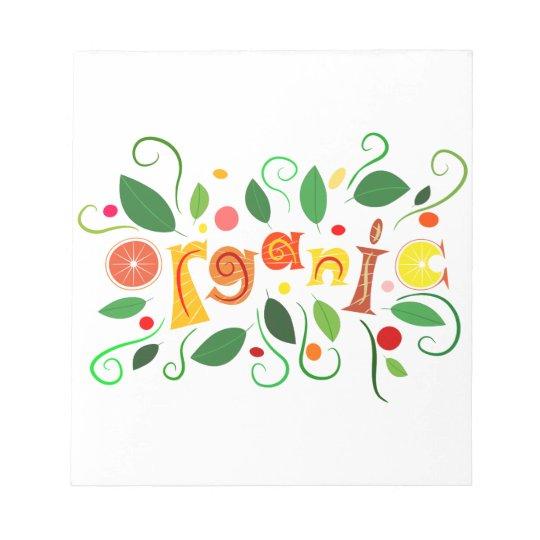 Floramentina - organic art notepad