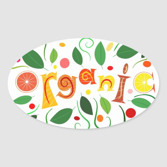 Floramentina - organic art oval sticker