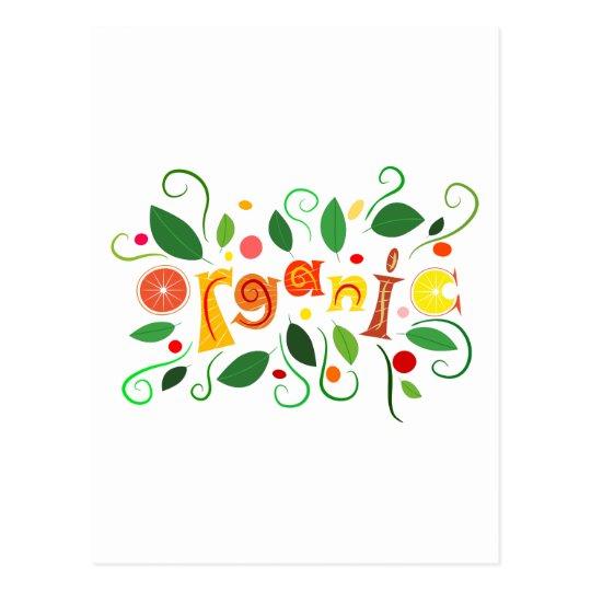 Floramentina - organic art postcard