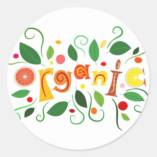 Floramentina - organic art round sticker