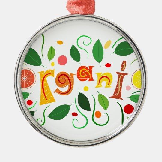 Floramentina - organic art Silver-Colored round ornament