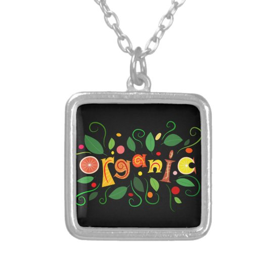 Floramentina - organic art silver plated necklace