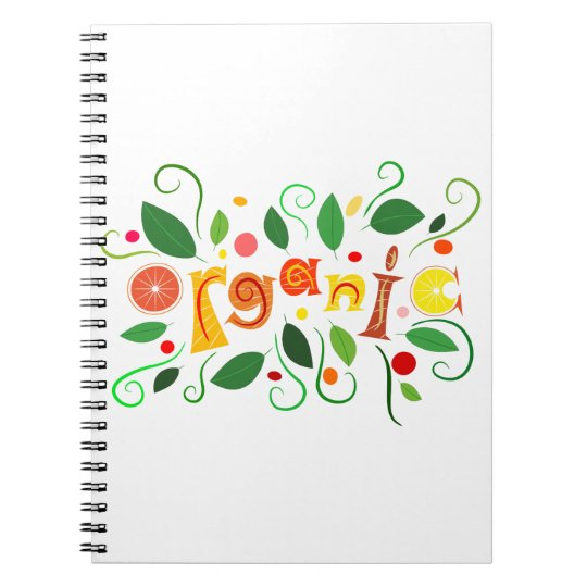 Floramentina - organic art spiral notebook