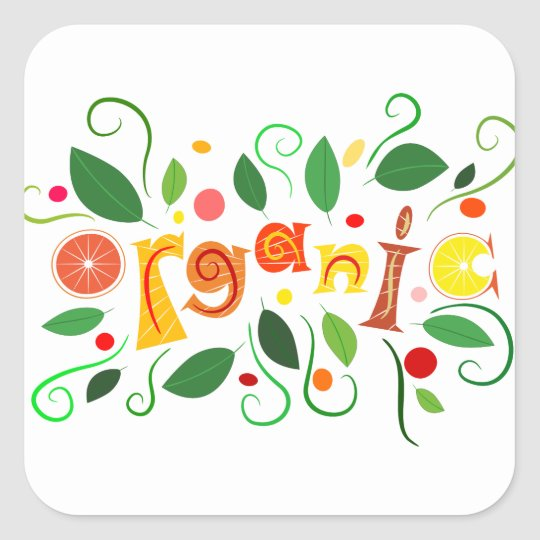 Floramentina - organic art square sticker
