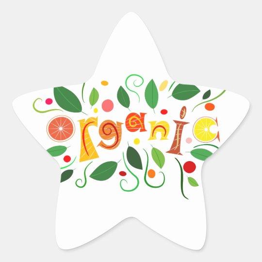 Floramentina - organic art star sticker