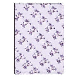 Floraux violets allument le folio coque pour kindle touch