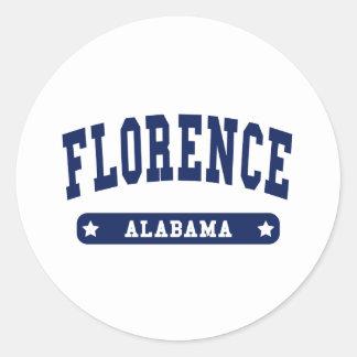 Florence Alabama College Style tee shirts Round Sticker