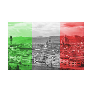 Florence and Italian Flag Canvas Print