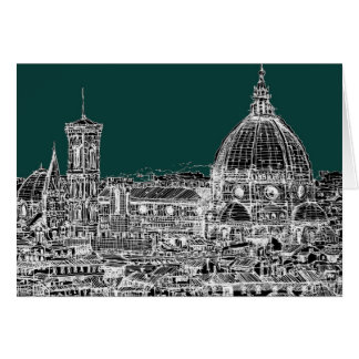 Florence architecture drawing card