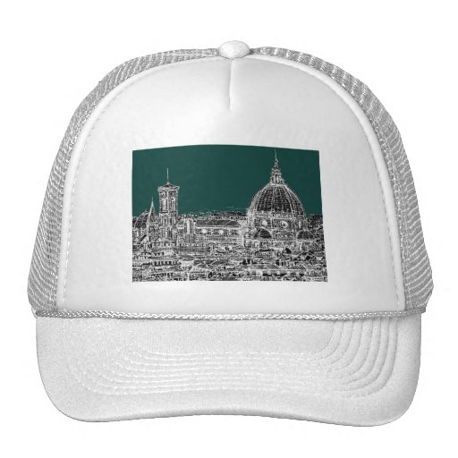 Florence architecture drawing mesh hat