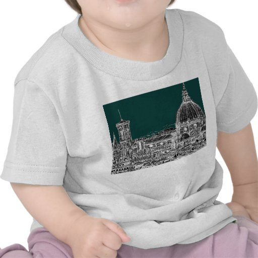 Florence architecture drawing t shirts
