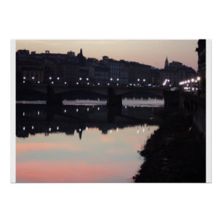 Florence at dusk poster