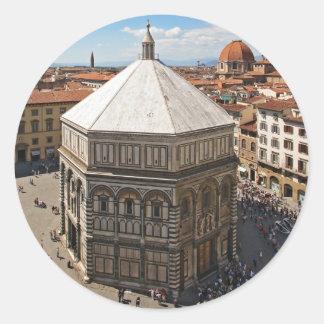 Florence baptistery round sticker