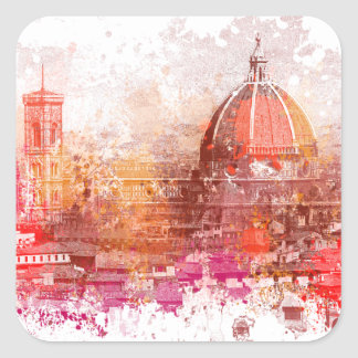 Florence - Basilica of Saint Mary of the Flower Square Sticker