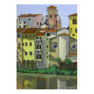 Florence by the river postcard