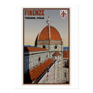 Florence - Cathedral from Bell Tower Postcard