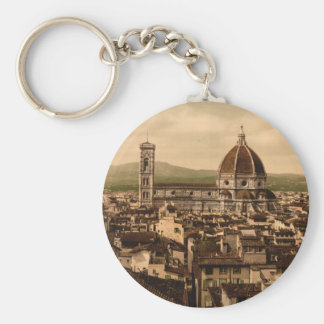 Florence Cathedral, Tuscany, Italy Basic Round Button Keychain