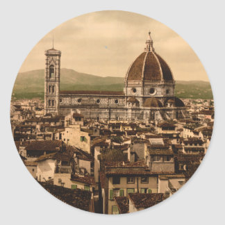 Florence Cathedral, Tuscany, Italy Round Sticker