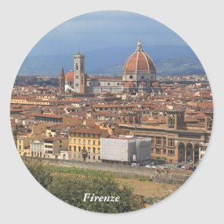 Florence Classic Round Sticker