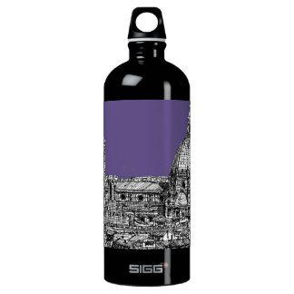 Florence dome in lilac water bottle
