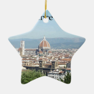 Florence Duomo from Michelangelo Square (new-St.K) Ceramic Star Ornament