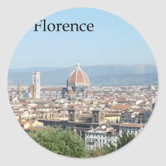 Florence Duomo from Michelangelo Square (new-St.K) Round Sticker