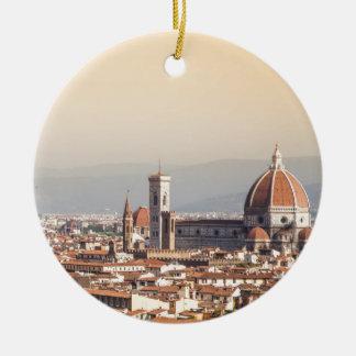 Florence Duomo Round Ceramic Ornament