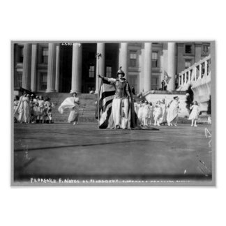 """Florence F. Noyes as """"Liberty"""" in suffrage pageant Poster"""