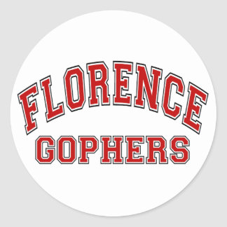 Florence Gophers Round Sticker