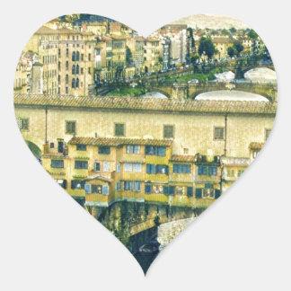 Florence in Art Heart Sticker