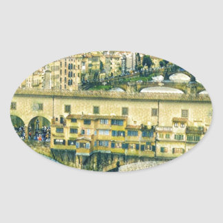 Florence in Art Oval Sticker