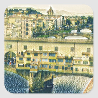 Florence in Art Square Sticker