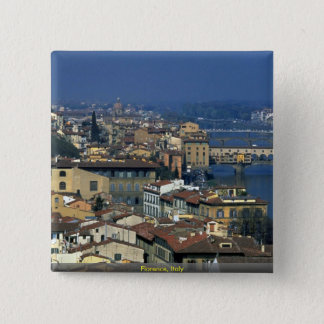 Florence, Italy 2 Inch Square Button