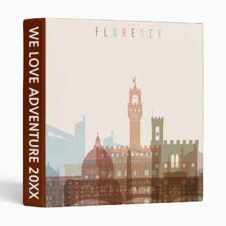 Florence, Italy | City Skyline 3 Ring Binders