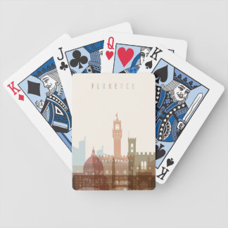 Florence, Italy   City Skyline Bicycle Playing Cards