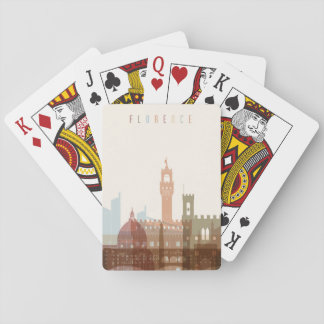 Florence, Italy   City Skyline Playing Cards