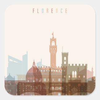 Florence, Italy   City Skyline Square Sticker