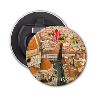 Florence, Italy (Duomo) Button Bottle Opener