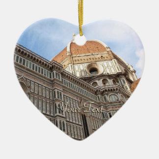 Florence Italy Duomo Holiday Photo Ceramic Heart Ornament
