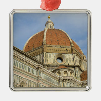 Florence Italy Duomo Silver-Colored Square Ornament