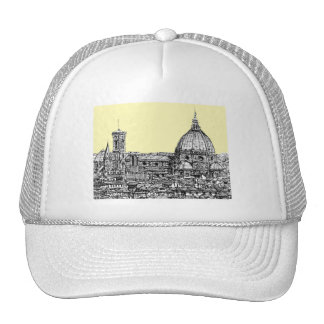 Florence Italy in cream Mesh Hats
