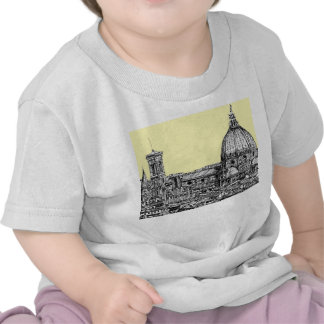 Florence Italy in cream Tee Shirt