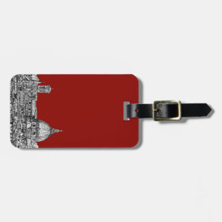 Florence Italy in red Luggage Tag