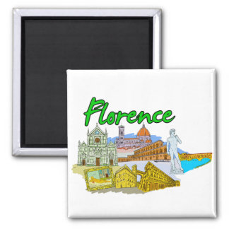 Florence - Italy.png Square Magnet